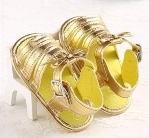 Gold Baby Sandals Photos