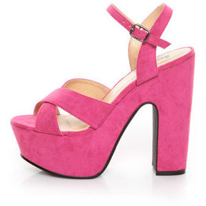 Hot Pink Platform Sandals