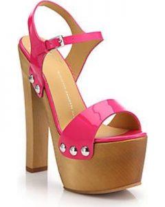 Images of Pink Platform Sandals