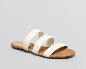 Images of White Slide Sandals