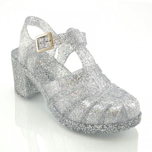 7890e3c7dc18 Glitter Jelly Sandals