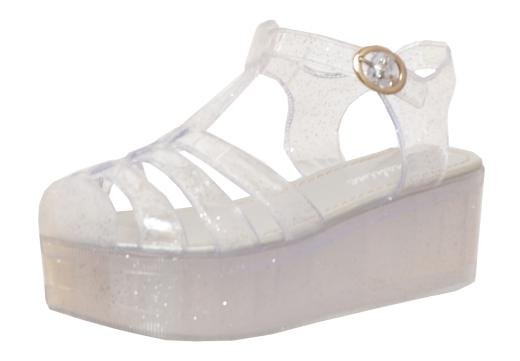 Platform Jelly Sandals