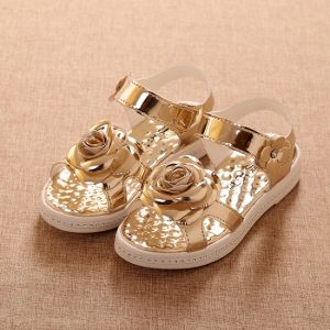 Pictures of Gold Baby Sandals