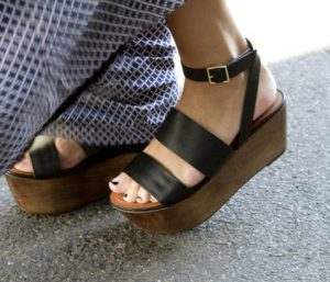 Pictures of Leather Platform Sandals