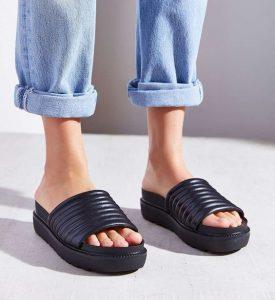 Pictures of Platform Slide Sandals