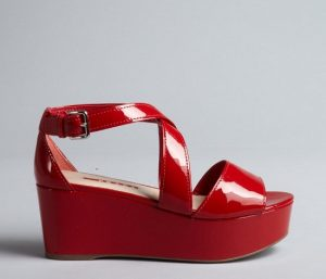 Pictures of Red Platform Sandals