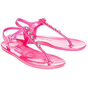 Pink Jelly Sandals Images