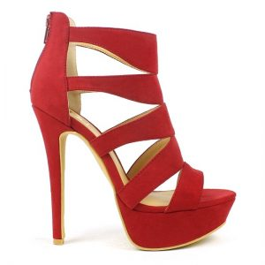 Red High Heels Sandals