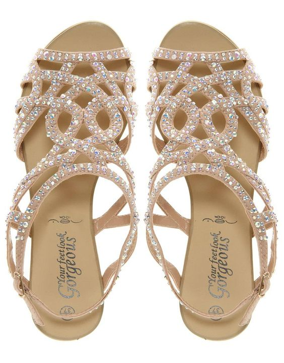 Rhinestone Sandals for Wedding | Crafty Sandals