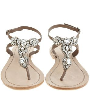 Sandals with Rhinestones for Wedding