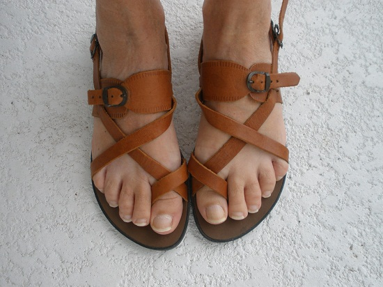 f13764679e241 Strappy Leather Sandals | CraftySandals.com