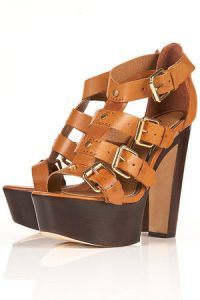 Tan Platform Sandals Images