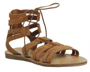Tan Suede Gladiator Sandals
