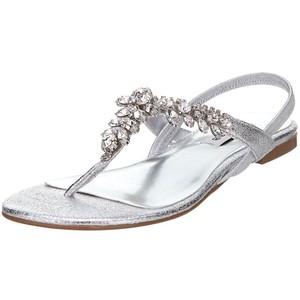 75bb5170f Silver Thong Sandals
