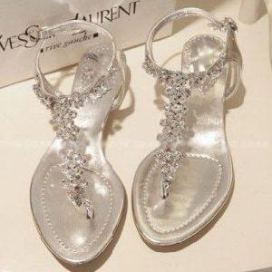 Wedding Rhinestone Sandals