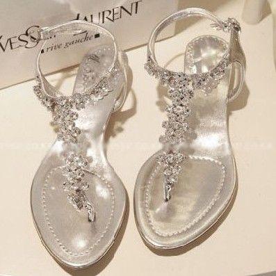 Rhinestone Sandals for Wedding