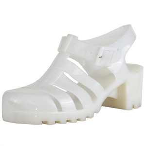 White Platform Jelly Sandals