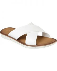 White Slide Sandals Pictures