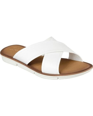 White Slide Sandals | CraftySandals.com