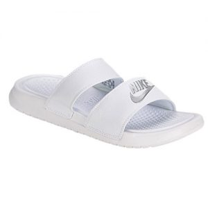 White Slide Sandals Women