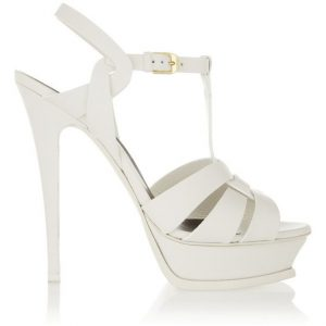 White Strappy Platform Sandals