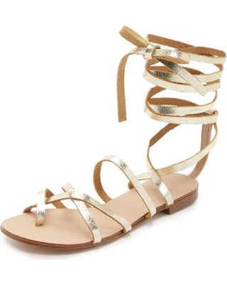 53996a74f31f Gold Lace Up Sandals