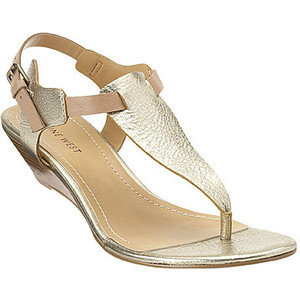 Low Wedge Thong Sandals