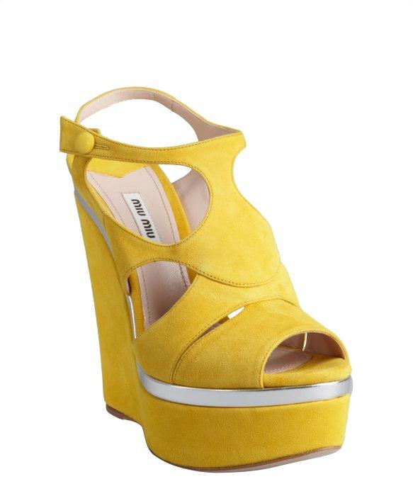 acd8ebb978 Yellow Wedge Sandals | CraftySandals.com