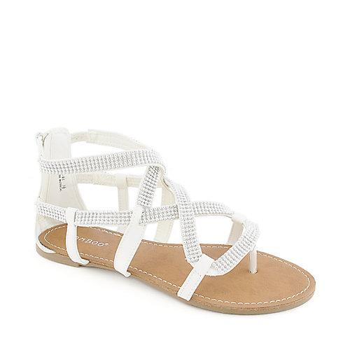 da34e74ede730 White Strappy Flat Sandals