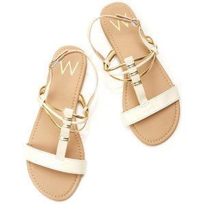 7b05a7035 White and Gold Sandals