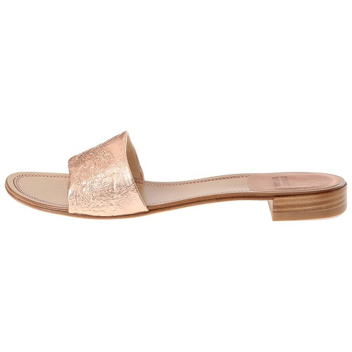 26779b2a53df Gold Womens Slide Sandal