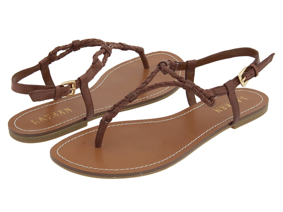 c251c6b25f79 Brown Leather Braided Sandals