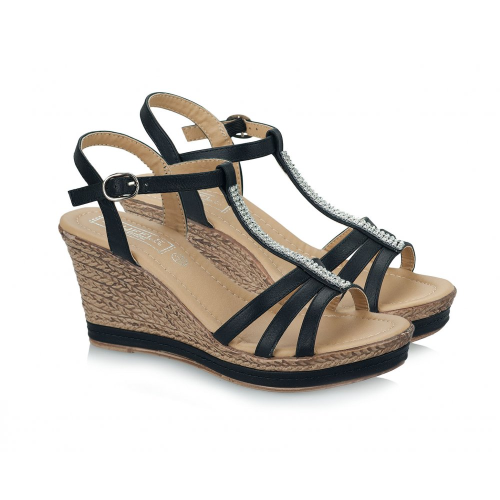 875bcd9ff64 Strappy Wedge Sandals | CraftySandals.com