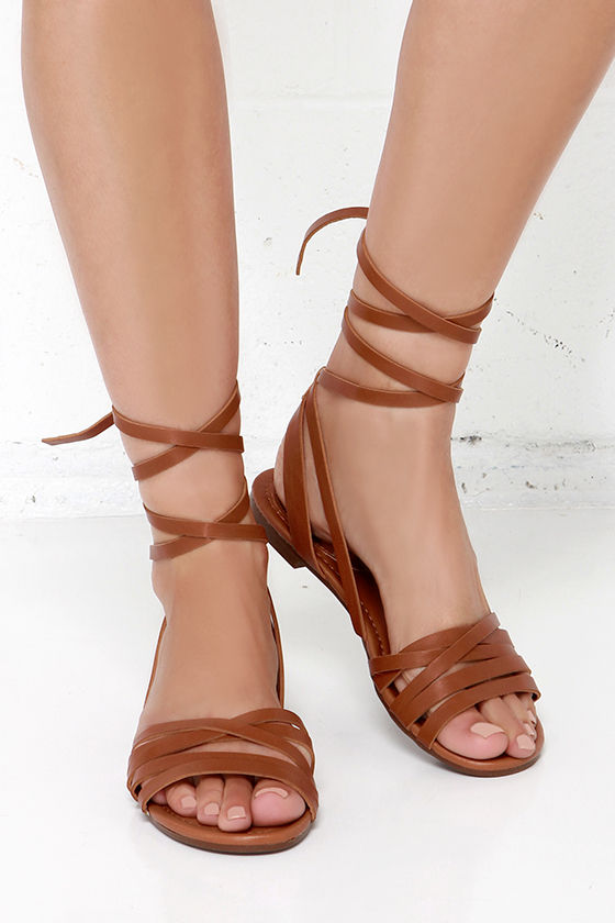 e30be81337ac90 Lace-up Flat Sandals