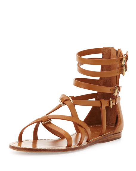 2d267fcbc4df Tan Gladiator Flat Sandals