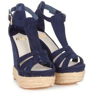 8d94234a9d1c5 Navy Blue Wedge Sandals