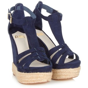 e7136a282eaaf Navy Blue Wedge Sandals