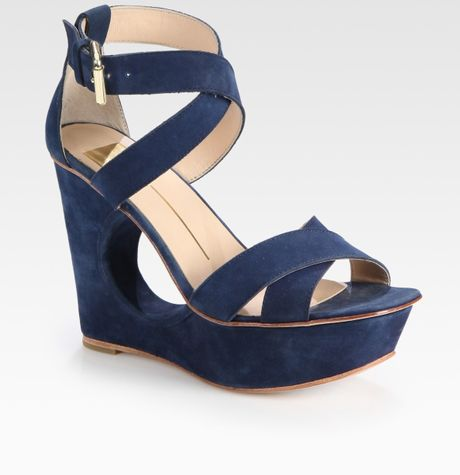 Navy Blue Wedge Sandals  23d102dbcc