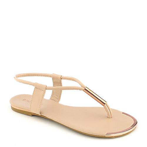 8909cbff38c7 Nude Flat Sandals