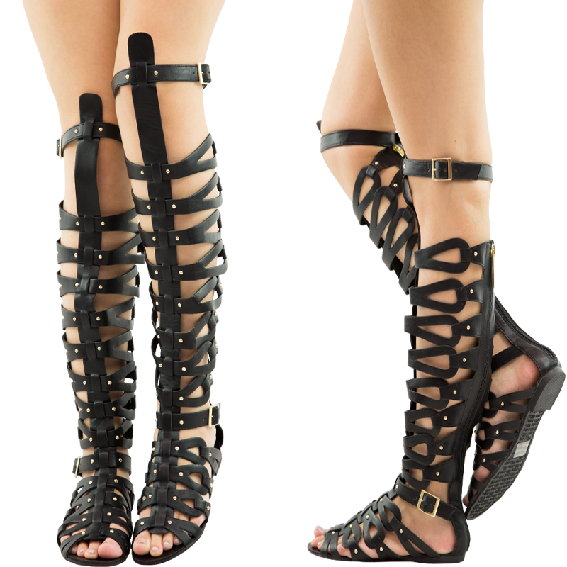 Thigh High Gladiator Sandals Craftysandals Com