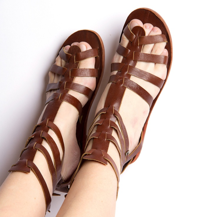 594eceb50be1 Womens Brown Gladiator Sandals