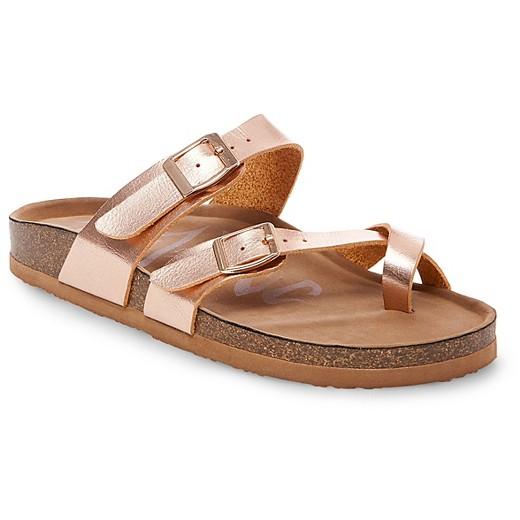 a3d7fa3e58c8 Rose Gold Footbed Sandals
