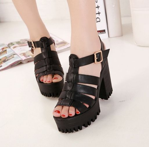 c7e606e3293 Chunky Heel Platform Sandal