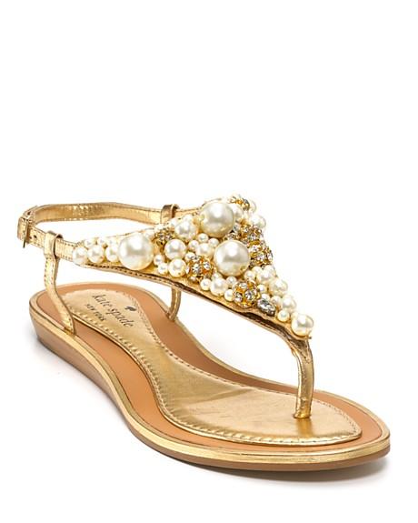 9c019f735a5f Gold Flat Sandals for Wedding