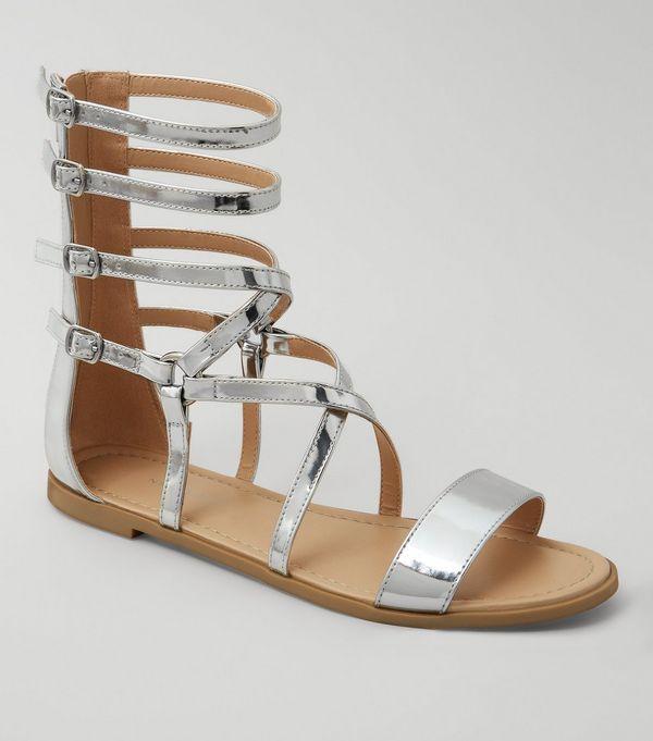c02c1727b1cc1 Silver Gladiator Sandals