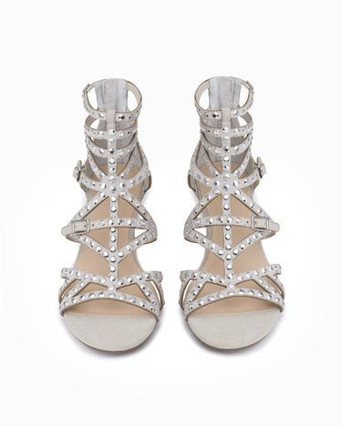 a4fda9609ef4 Silver Sparkle Gladiator Sandals