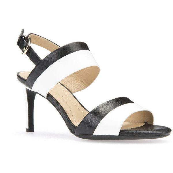 0cf95b4f7 Black and White Sandal Heels