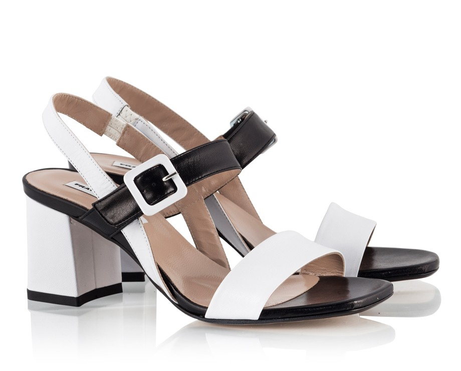 f3e137837 Black and White Sandals