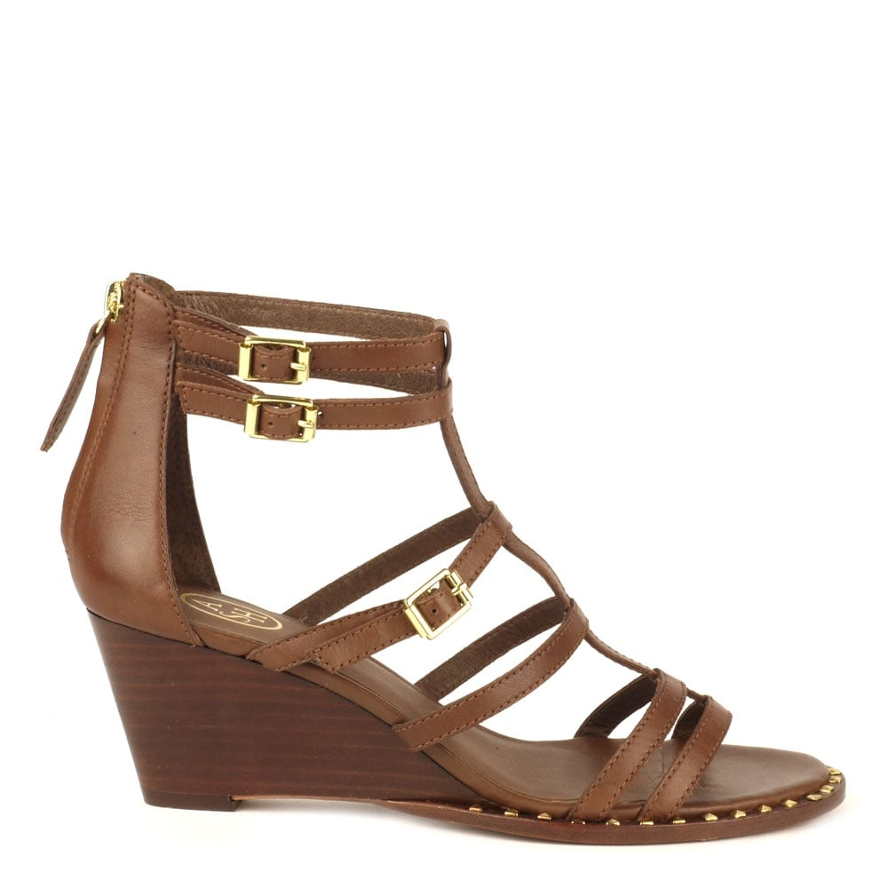 Brown Wedge Sandals | CraftySandals.com