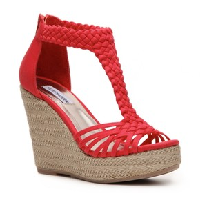 7300bd387bc Pictures of Red Wedge Sandals